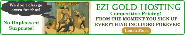 EZi Gold Hosting banner ad.
