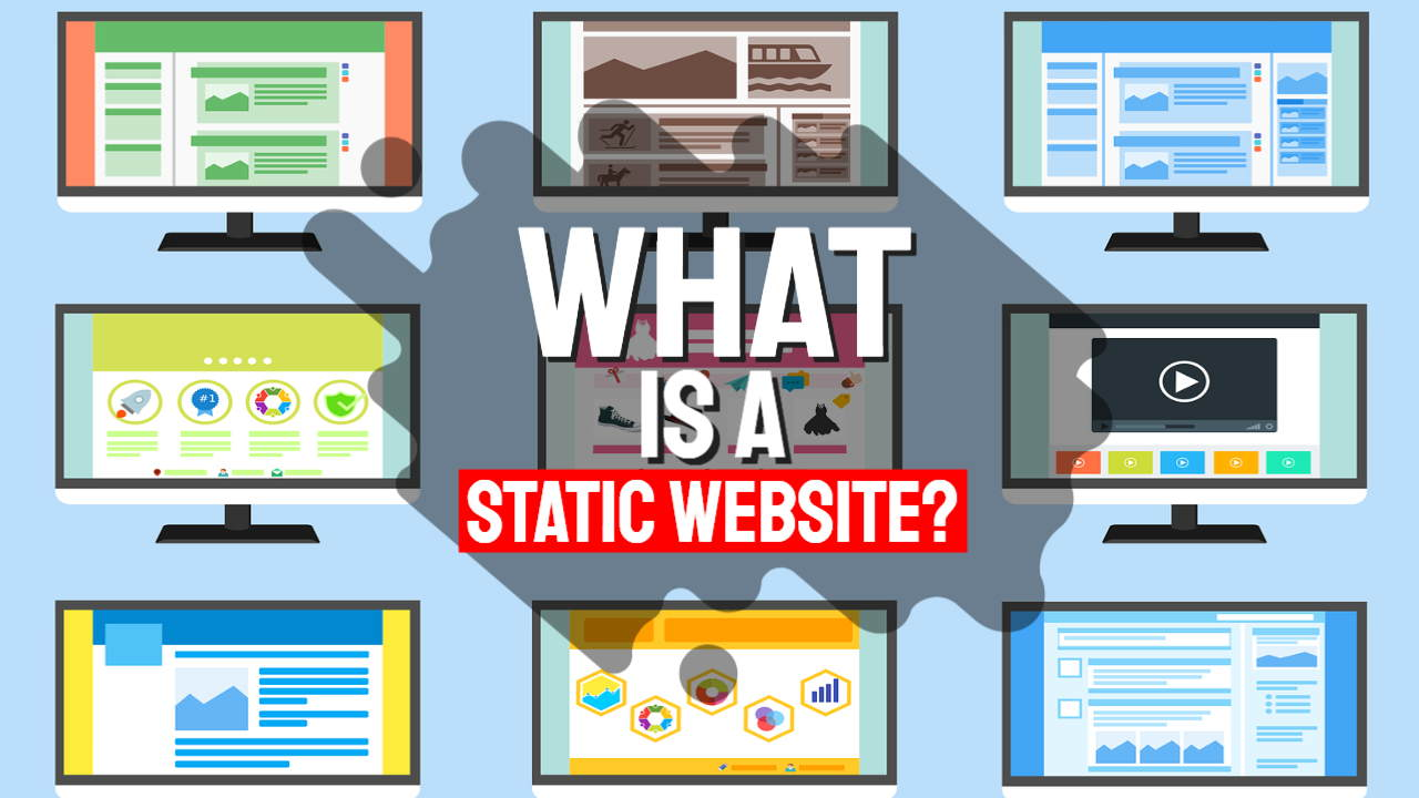 """Featured image with text: """"What is a static website?"""""""