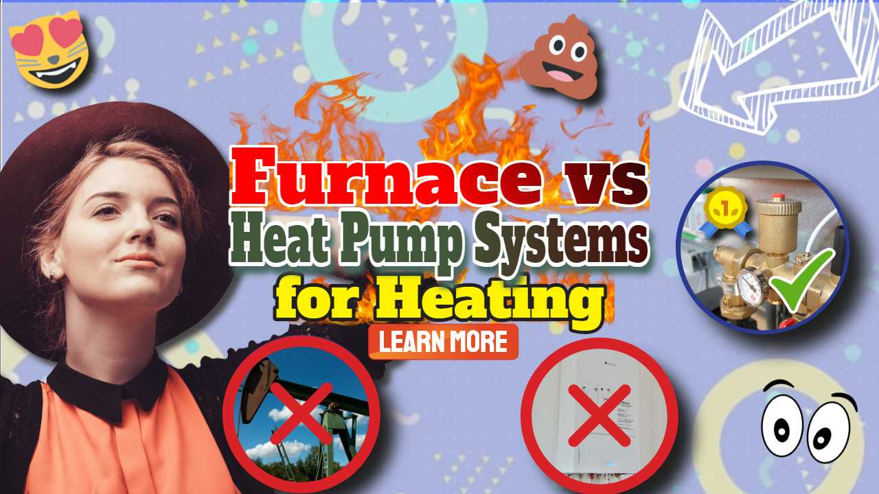 """Image with text: """"Furnace vs heat pump""""."""